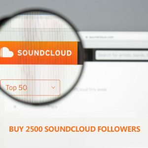 buy 2500 soundcloud followers